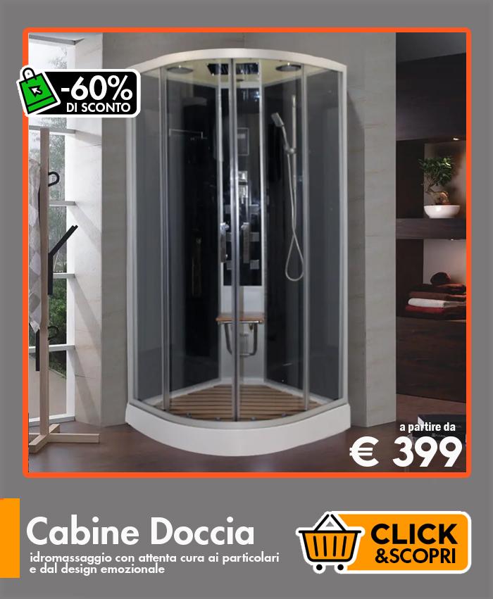 Cabine doccia promo Ceramashop Store Online di igienico-sanitari ed accessori per il bagno