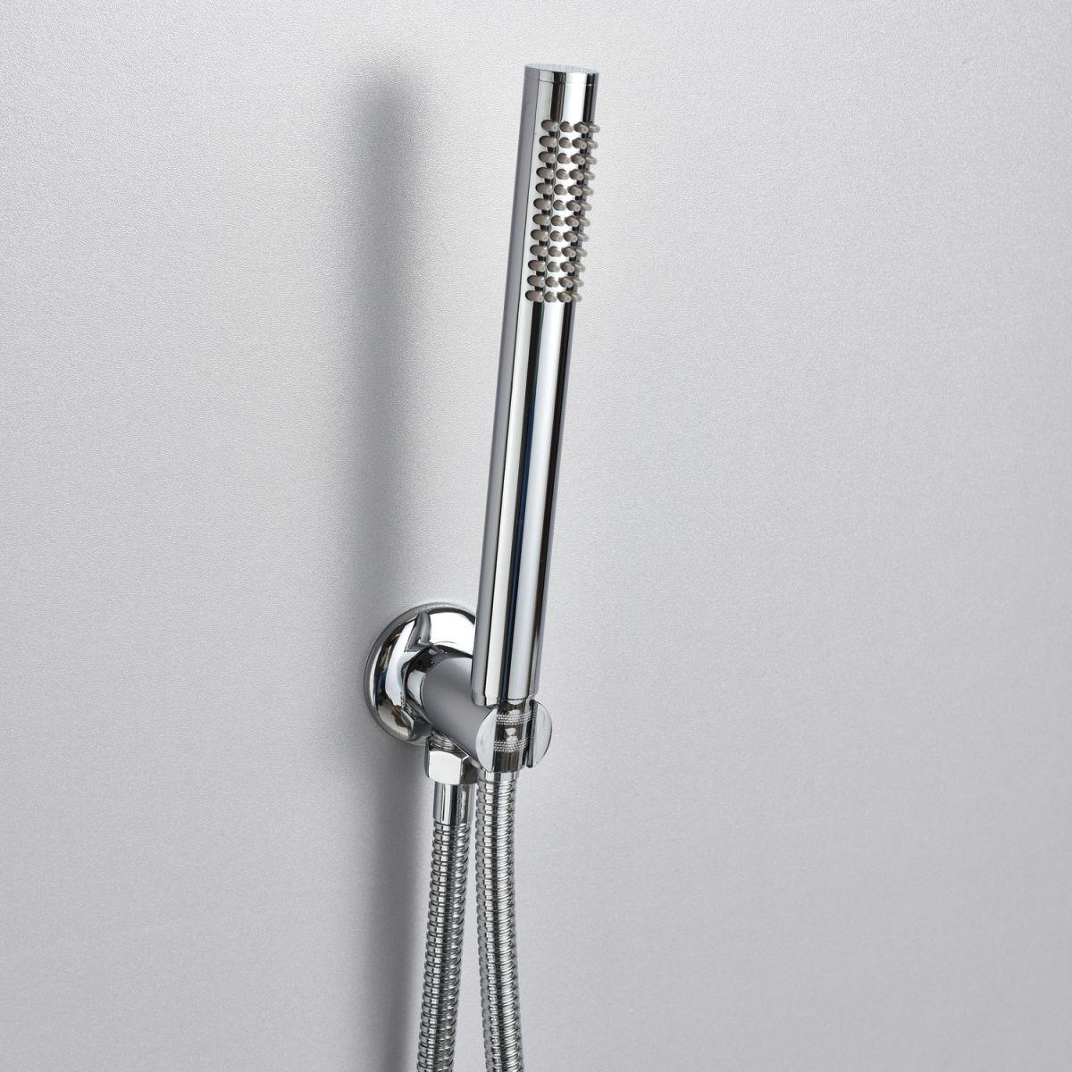"""SK R01 3 Set Doccia """"Roller"""" con soffione tondo 25 cm e doccetta"""
