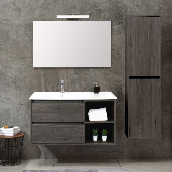 Londra Grigio 100cm con colonna Ceramashop Store Online di igienico-sanitari ed accessori per il bagno