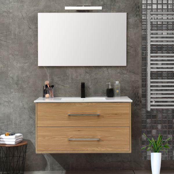 mobile 120 senza colonna rovere Ceramashop Store Online di igienico-sanitari ed accessori per il bagno
