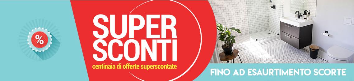 Banner supersconti Ceramashop Store Online di igienico-sanitari ed accessori per il bagno