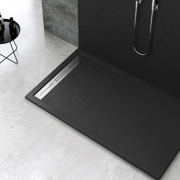 Piatto doccia Mod Topazio NERO Ceramashop Store Online di igienico-sanitari ed accessori per il bagno