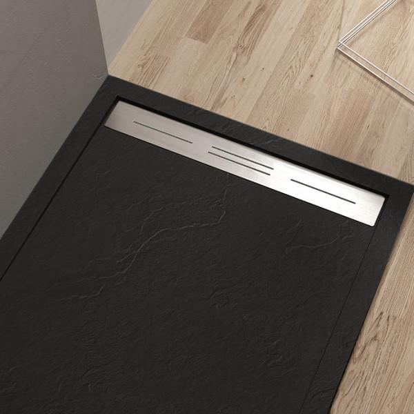 Piatto doccia Mod Topazio 3 NERO Ceramashop Store Online di igienico-sanitari ed accessori per il bagno