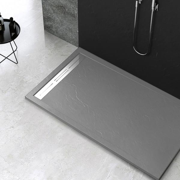 Piatto doccia Mod Topazio 5 Dark Grey 1 Ceramashop Store Online di igienico-sanitari ed accessori per il bagno